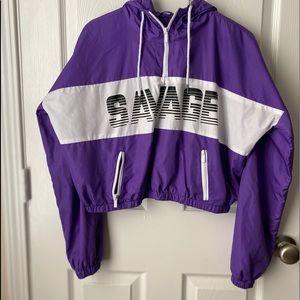 """""""Savage"""" Rue 21 windbreaker hoodie ❤️"""